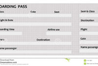 029 Airplane Ticket Template Example Mughals Ideas Free in Plane Ticket Template Word