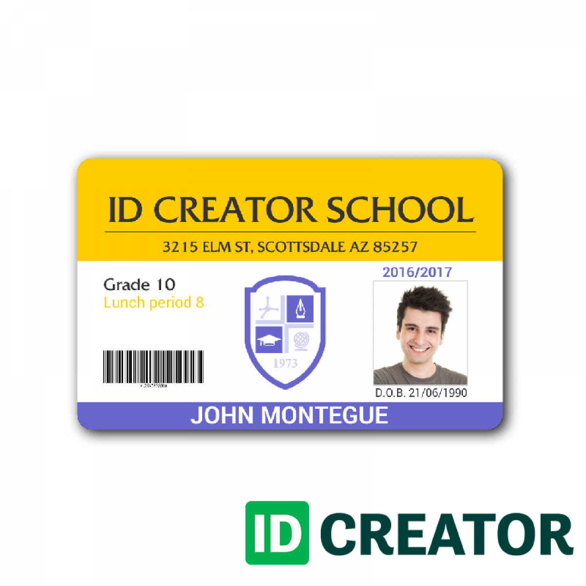 029 Blank School Student Id Card 128290 Templates Photoshop Pertaining To High School Id Card Template