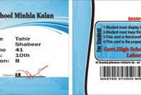 030 The Best College Id Card Template Psd Free Download throughout College Id Card Template Psd