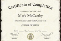 031 Certificate Of Completion Template Free Editable regarding Certificate Of Completion Template Free Printable