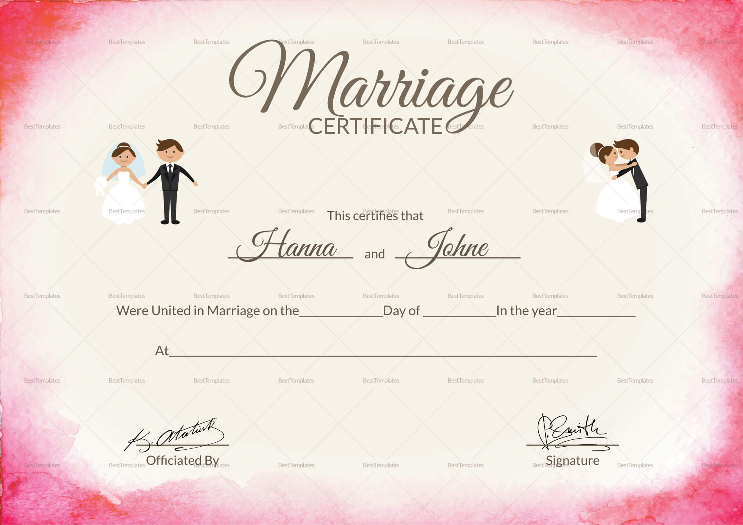 031 Certificate Of Marriage Template Certificate28129 In Certificate Of Marriage Template