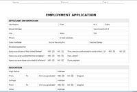 031 Employment Applicationte Microsoft Word Free College in Employment Application Template Microsoft Word