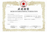031 Martial Arts Certificate Templates Free Design within Promotion Certificate Template
