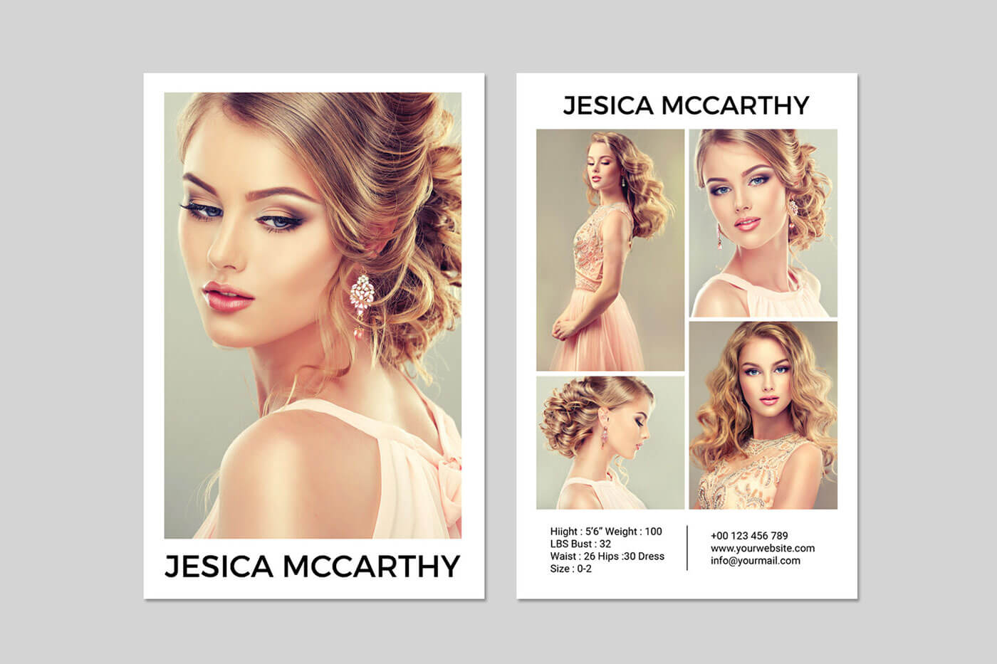 031 Model Comp Card Template Outstanding Ideas Psd Free Within Free Model Comp Card Template Psd