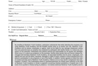 031 Template Ideas Sports Camp Registration Form Unique with Camp Registration Form Template Word