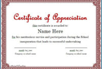 031 Years Of Service Certificate Template Ideas Singular with regard to Recognition Of Service Certificate Template
