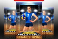 032 Volleyball Court Logo 5X7 23578 Soccer Trading Card with Soccer Trading Card Template