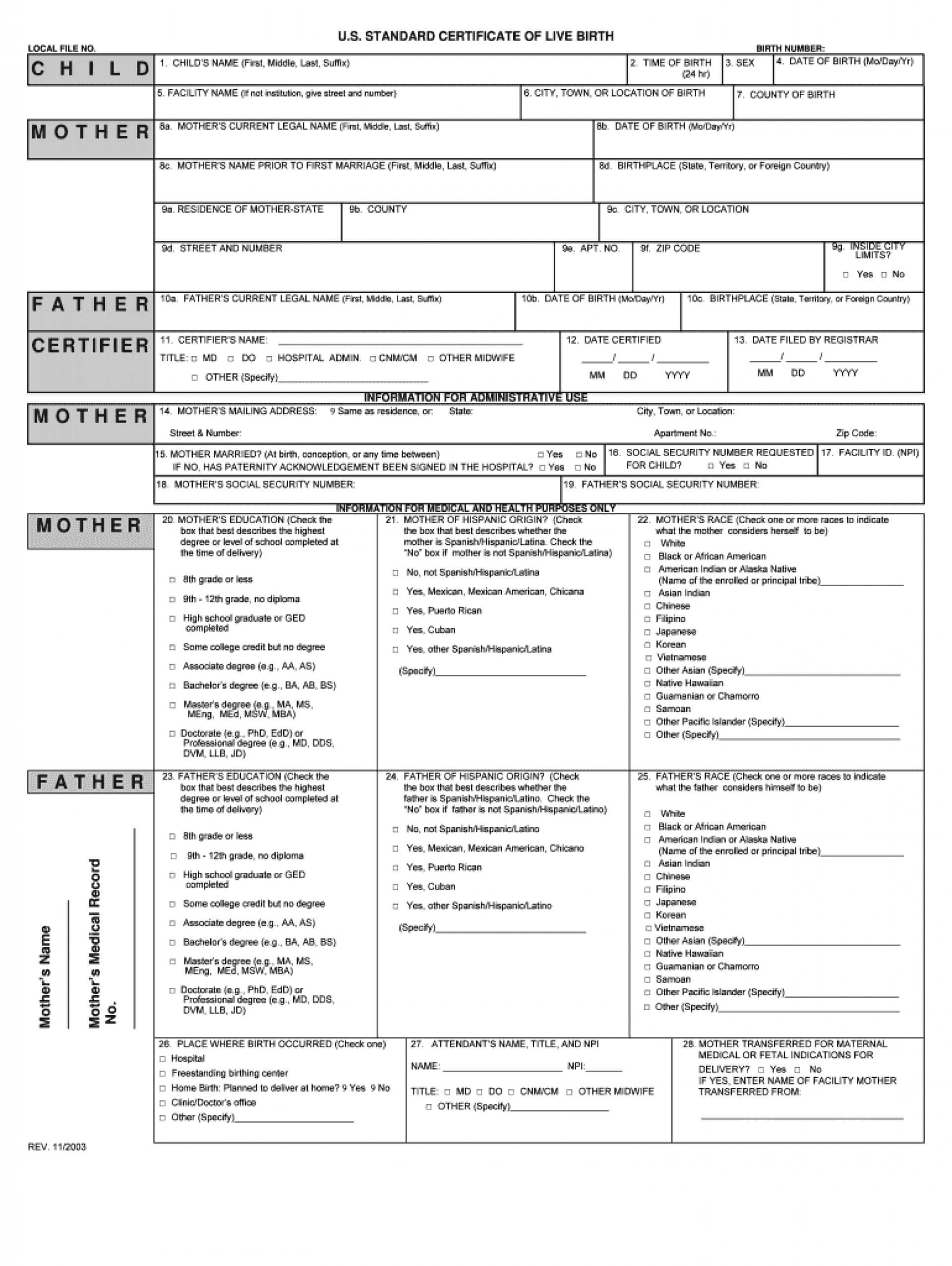 033 Large Free Birth Certificate Template Impressive Ideas In Fake Birth Certificate Template