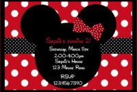 033 Printable Birthdays Girls Mouse Party Minnie Card throughout Minnie Mouse Card Templates