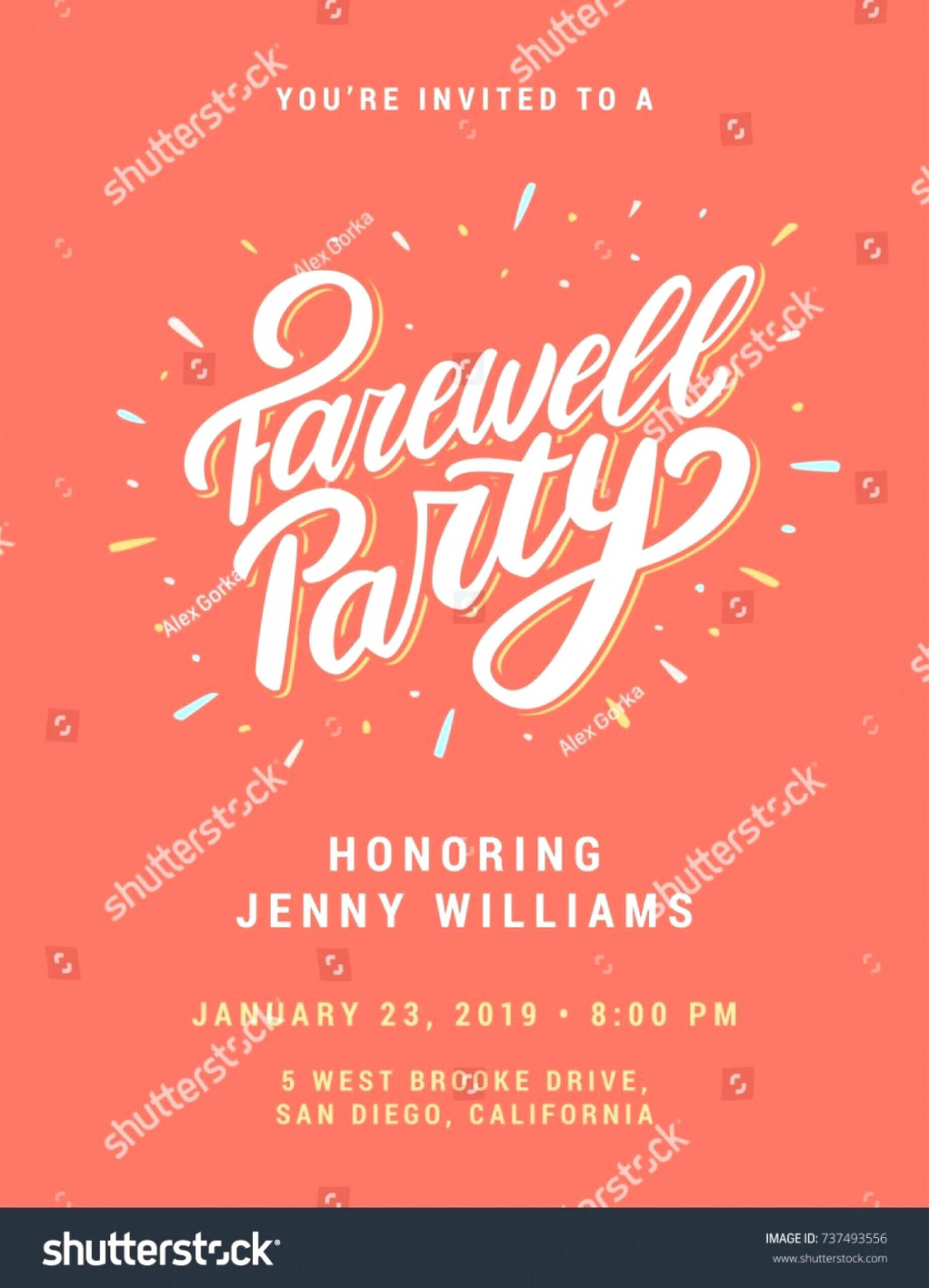 033 Template Ideas Farewell Party Invitations Templates Intended For Farewell Card Template Word