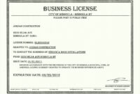 034 Free License Certificate Template Besttemplatess9 intended for Certificate Of License Template