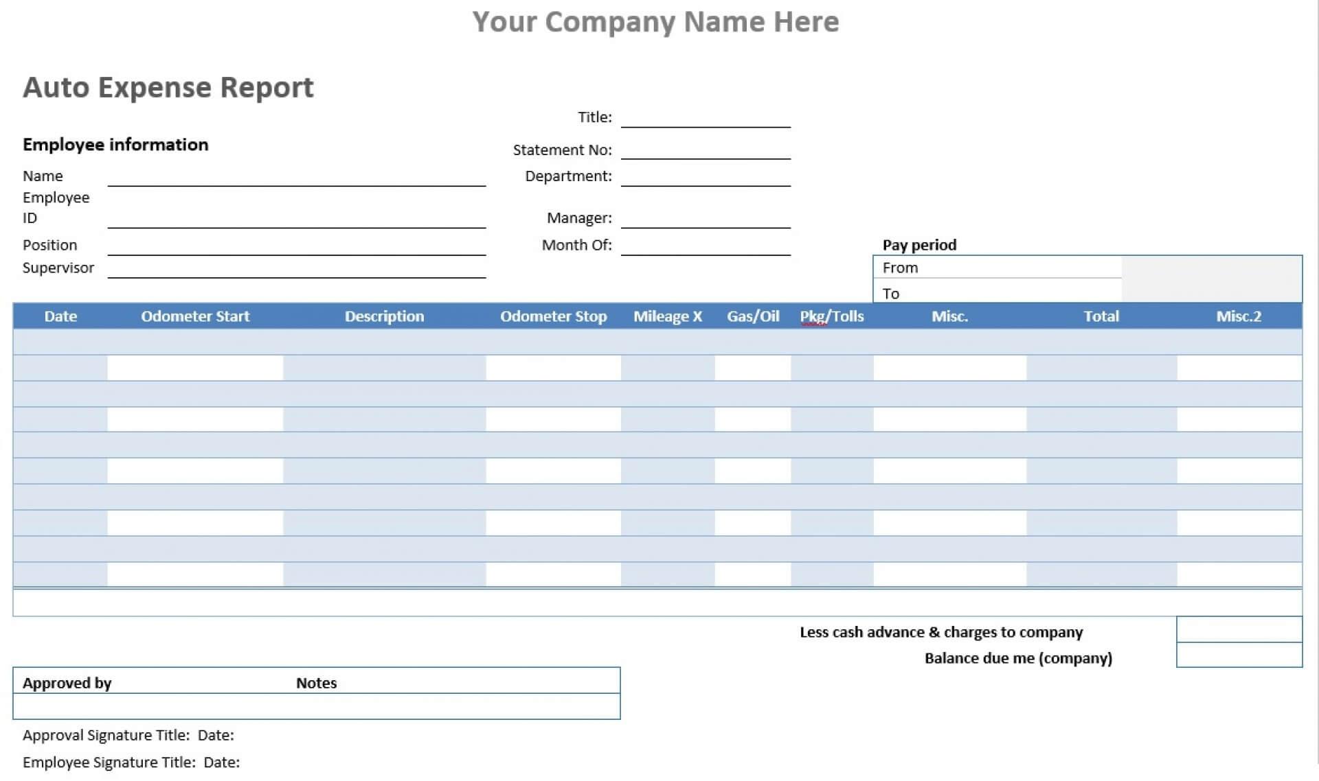 036 Expenses Form Template Lobo Black Mileage Reimbursement With Gas Mileage Expense Report Template