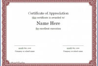 036 Template Ideas Certificate For Microsoft Word Of in Template For Certificate Of Appreciation In Microsoft Word