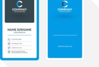 036 Vertical Double Sided Business Card Template Blue with 2 Sided Business Card Template Word