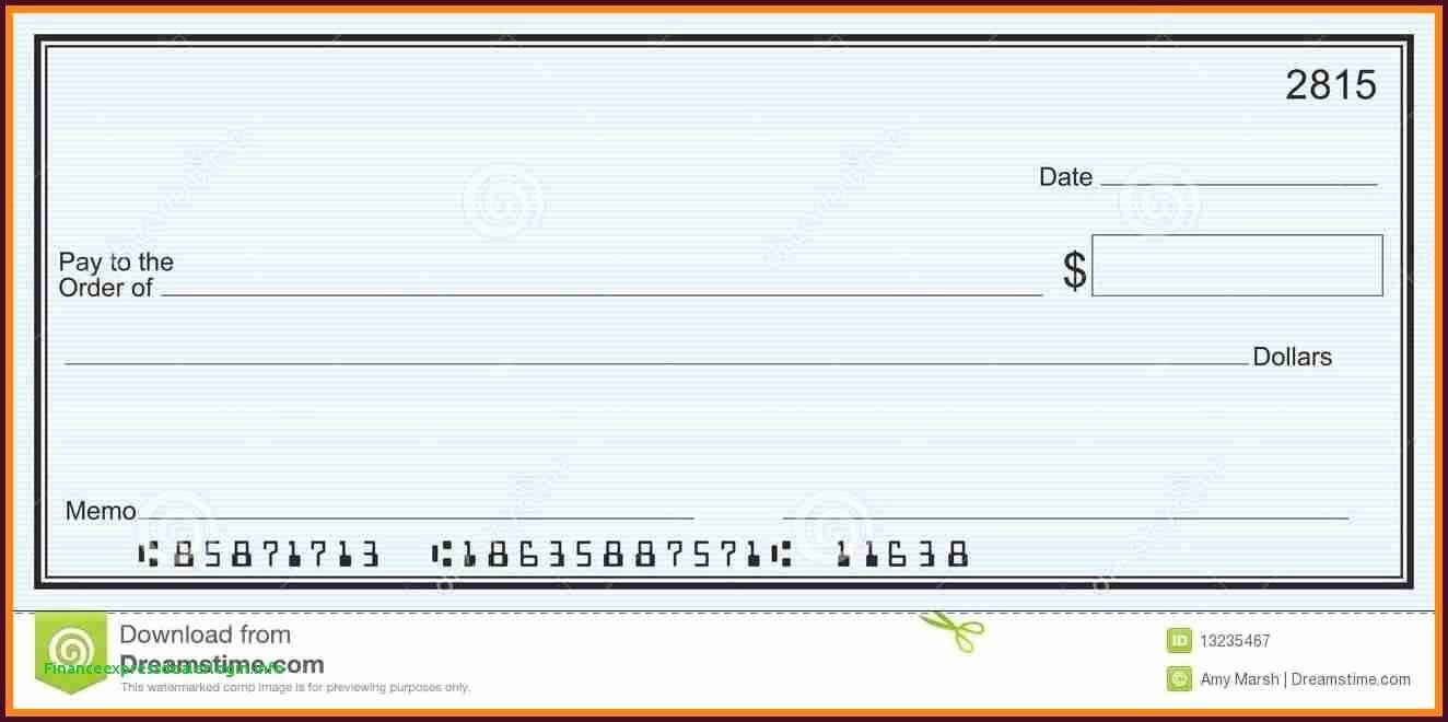 037 Template Ideas Blank Business Check Depositphotos For Customizable Blank Check Template
