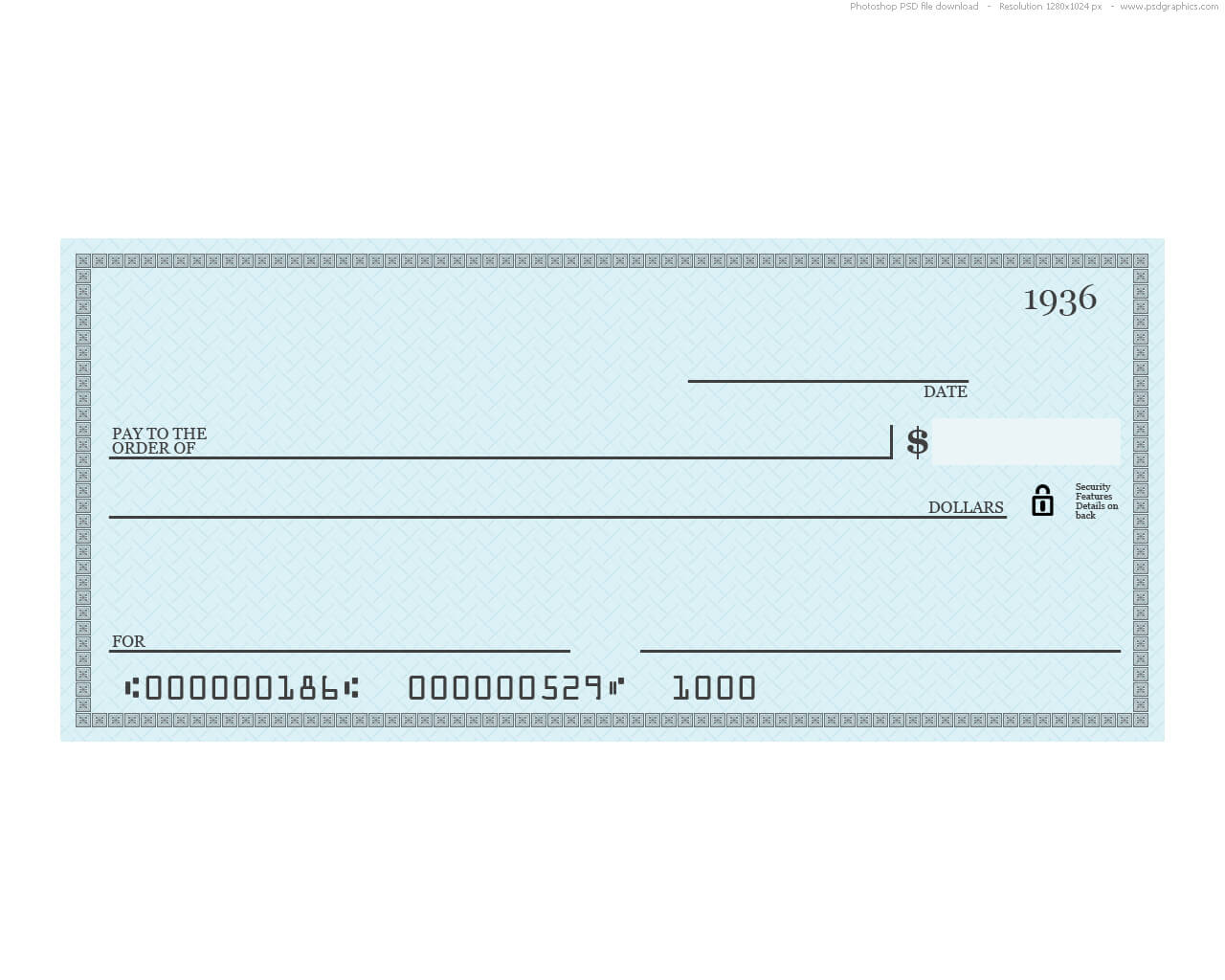 037 Template Ideas Blank Business Check Depositphotos With Regard To Customizable Blank Check Template