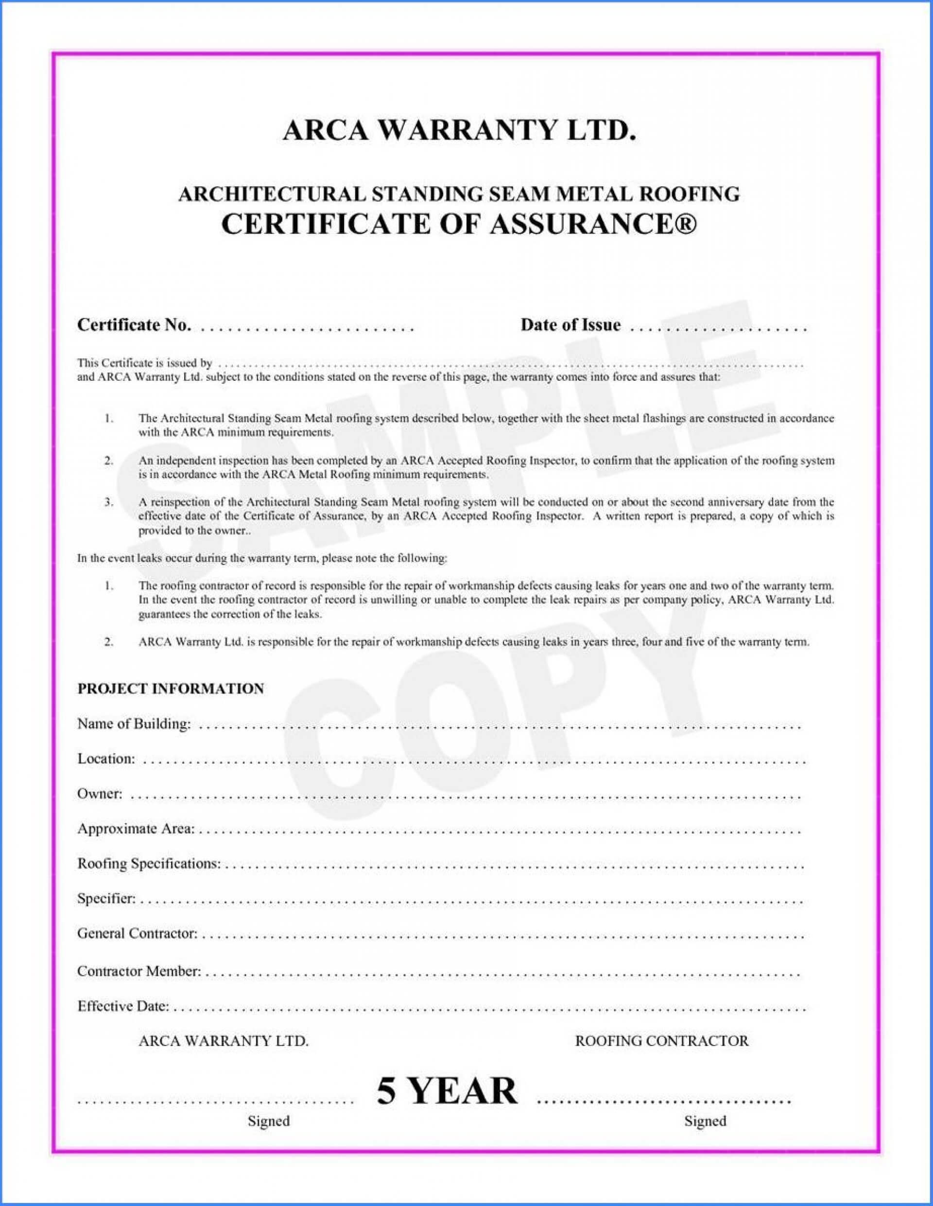 038 Template Ideas Certificate Of Final Completion Form For With Construction Certificate Of Completion Template