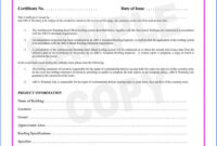 038 Template Ideas Certificate Of Final Completion Form For within Certificate Of Inspection Template