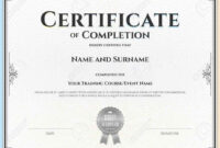 040 Free Certificate Of Completion Template Word Editable with Certificate Of Completion Template Word