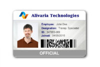 040 Student Id Card Templates Photoshop Adding Employee inside Id Card Template For Microsoft Word