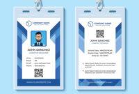 042 Template Ideas Employee Id Card Templates Blue Design with regard to Free Id Card Template Word