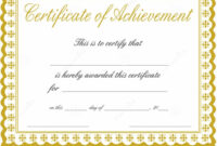 044 Free Printable Certificate Of Completion Template regarding Free Printable Certificate Of Achievement Template