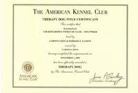044 Template Ideas Service Dog Certificate Brilliant For with Service Dog Certificate Template