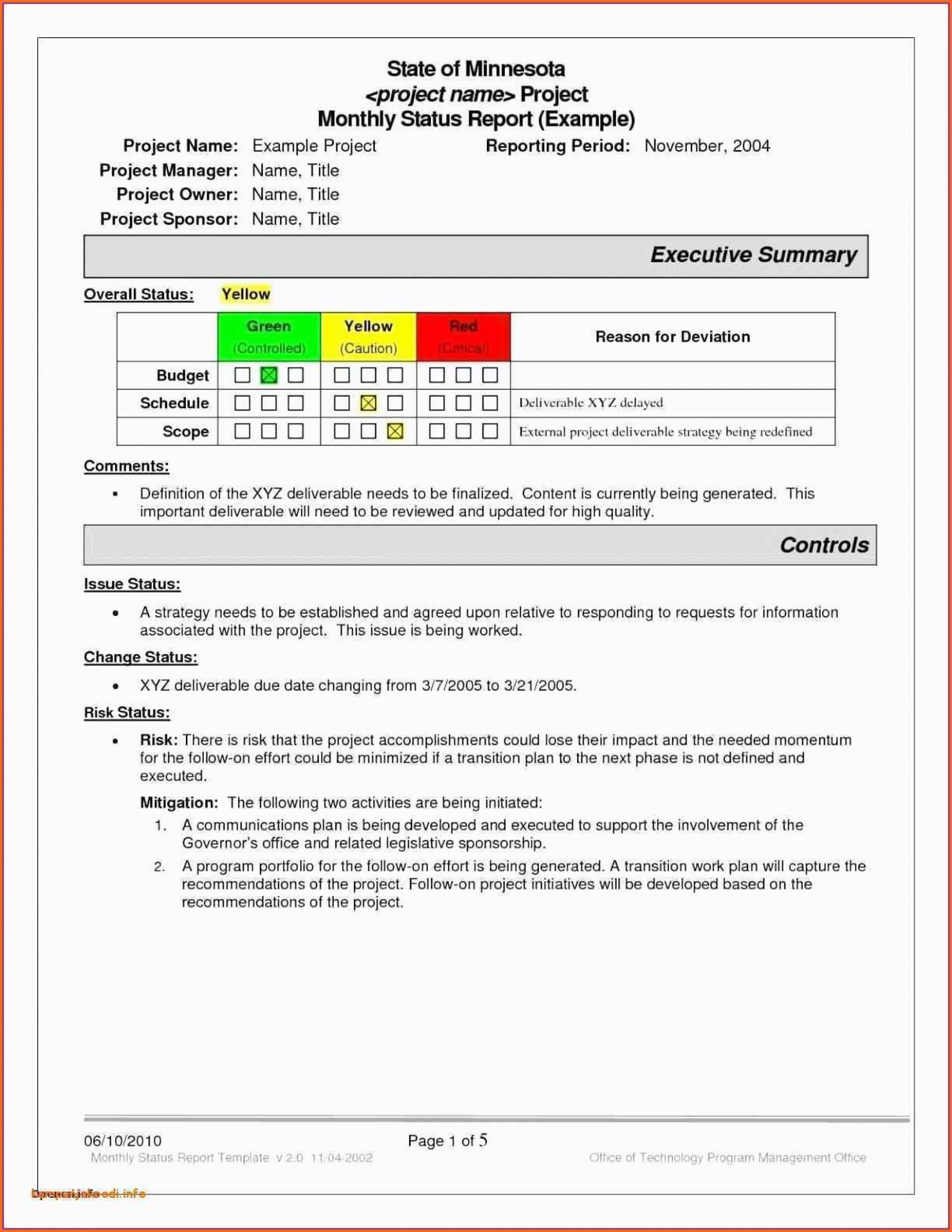 047 Project Status Report Format Excel Template Ideas Daily Throughout Best Report Format Template