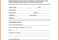 048 Accident Reporting Form Template Ideas Employee Incident within Incident Report Book Template