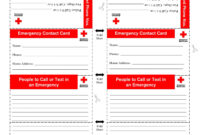10+ Emergency Information Form Examples – Pdf | Examples with In Case Of Emergency Card Template