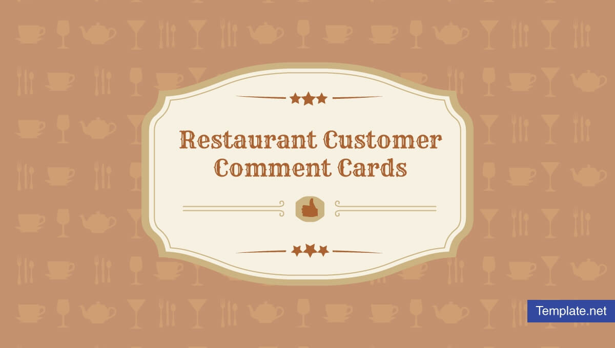 10+ Restaurant Customer Comment Card Templates & Designs In Restaurant Comment Card Template