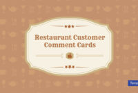 10+ Restaurant Customer Comment Card Templates & Designs with regard to Survey Card Template