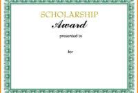 10+ Scholarship Award Certificate Examples – Pdf, Psd, Ai in Scholarship Certificate Template