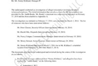 10+ Workplace Investigation Report Examples – Pdf | Examples inside Sexual Harassment Investigation Report Template