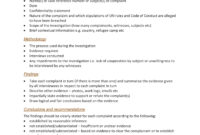 10+ Workplace Investigation Report Examples – Pdf | Examples inside Workplace Investigation Report Template
