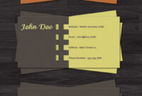 100 Free Business Card Templates – Designrfix pertaining to Visiting Card Templates For Photoshop
