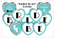 11 Best Photos Of Bride To Be Banner Template – Diy Bridal with Free Bridal Shower Banner Template
