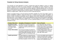 11+ Industry Analysis Examples – Pdf | Examples with Industry Analysis Report Template