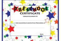 11+ Preschool Certificate Templates – Pdf | Free & Premium intended for Free Printable Certificate Templates For Kids