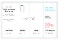 "11"" X 17"" Double Parallel Brochure Template – U.s. Press in Brochure 4 Fold Template"
