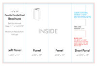 """11"""" X 17"""" Double Parallel Brochure Template – U.s. Press intended for 11X17 Brochure Template"""