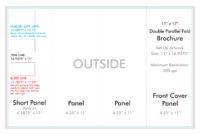 """11"""" X 17"""" Double Parallel Brochure Template – U.s. Press intended for Brochure 4 Fold Template"""