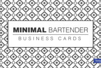 12+ Bartender Business Card Designs & Templates – Psd, Ai with regard to Free Business Cards Templates For Word