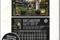 12+ Baseball Trading Card Designs & Templates – Psd, Ai with Baseball Card Template Psd