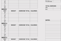 12+ Blank Workout Log Sheet Templates To Track Your Progress with regard to Blank Workout Schedule Template