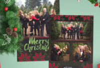 12 Christmas Card Photoshop Templates To Get You Up And inside Christmas Photo Card Templates Photoshop