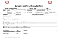 12+ Corrective Action Report Examples – Pdf | Examples pertaining to Fracas Report Template