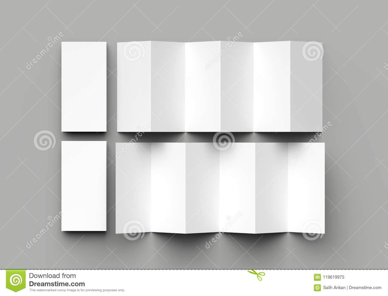 12 Page Leaflet, 6 Panel Accordion Fold – Z Fold Vertical Throughout 12 Page Brochure Template