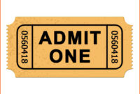 13+ Admission Ticket Template | Survey Template Words with regard to Blank Admission Ticket Template