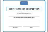 13 Free Certificate Templates For Word » Officetemplate intended for Free Certificate Of Completion Template Word